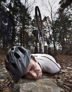 falling of a mountainbike