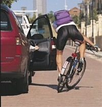 car door cyclist