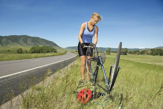 fix a flat tyre