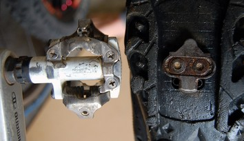 MTB pedal and cleat
