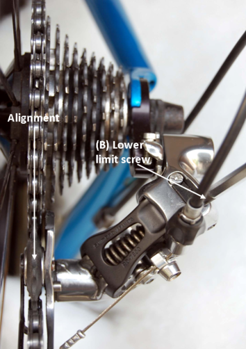 rear derailleur lower limit adjustment
