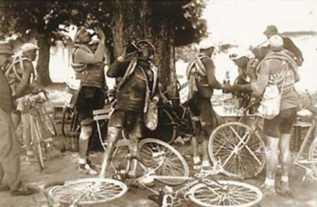 drinking alcohol in the tour de france