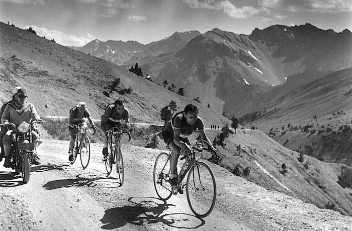 tour de france climbing french alps 1951