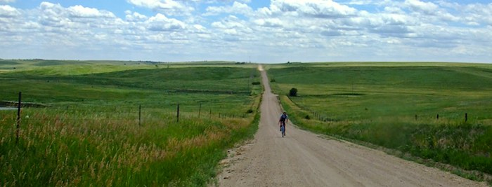 Gravel Grinding remote country road