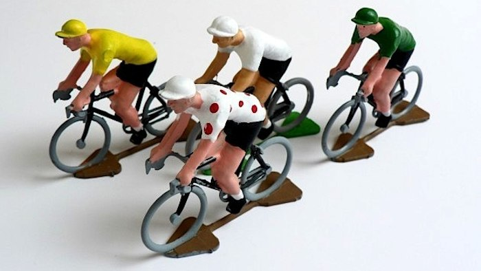 cycling figurines