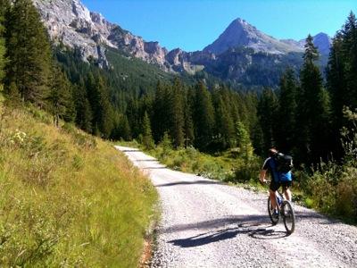 Riding on remote Austrian mountain road