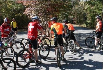 Group MTB trail ride