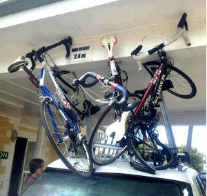 Captivating Roof Rack Bicycle Accident
