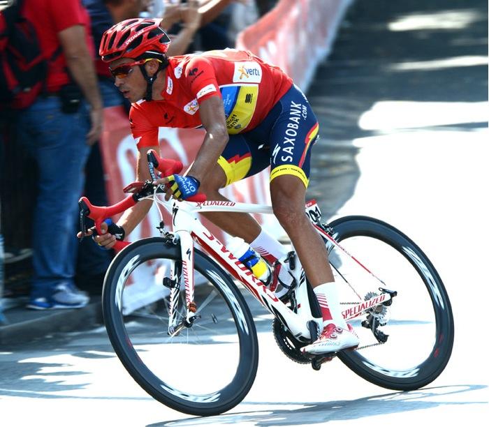 Alberto Contador at Stage 21 of La Vuelta Espana 2012