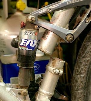 Alloy bike cracked frame