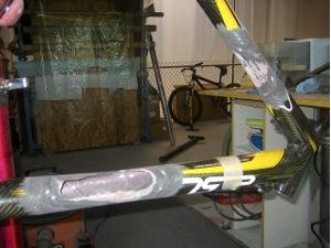 Carbon bike frame repair