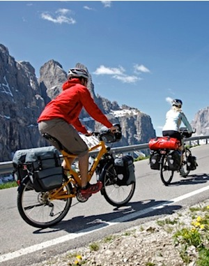 Bike pannier touring