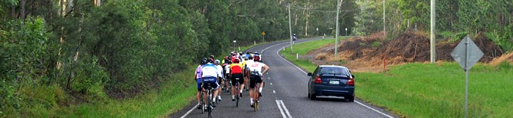 bunch riding, sharing the road