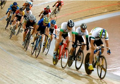 track racing at the velodrome