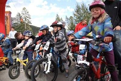 bike racing with kids