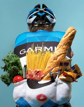 eating and cycling