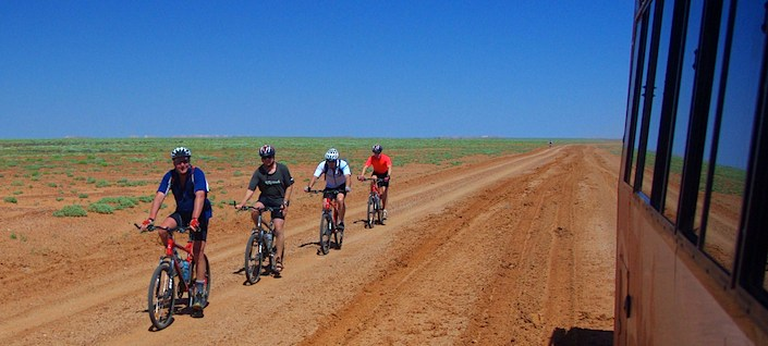 Cycling in remote outback NSW