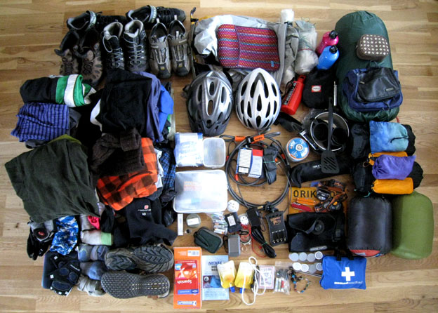 cycling equipement and gear for traveling