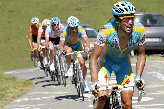 Alberto Contador in the Tour de France 2010