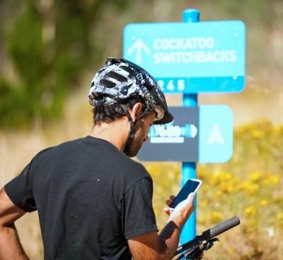 Strava at the trailhead - cycling social media