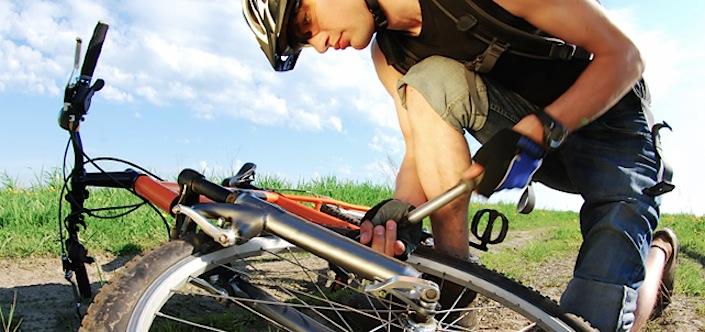 Check your bike tire pressure