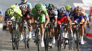 Road Bike Sprint Finish