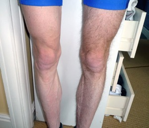 Shaved cycling legs