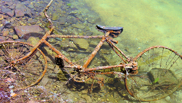 Rusted Steel Bike