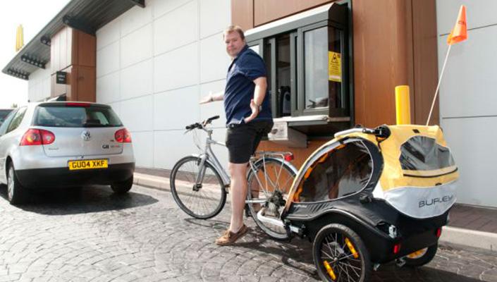 Bike through window