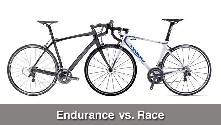 What is the difference between a road race and endurance/gran fondo bike?