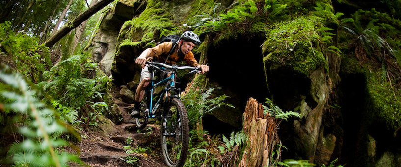 Navigating the trail on a hardtail