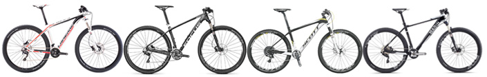 Compare 4 hardtails