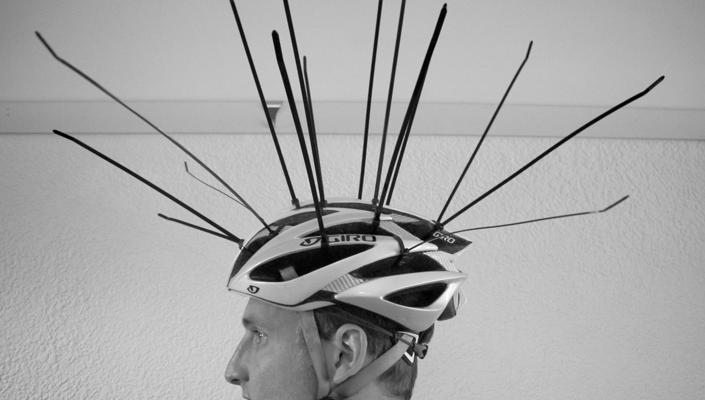 Ziptie Helmet
