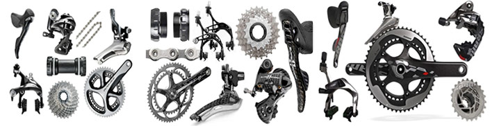 The 3 main groupset manufacturers: Shimano, Campagnolo, SRAM