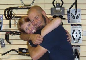 Real bike shops give hugs - they appreciate your business!