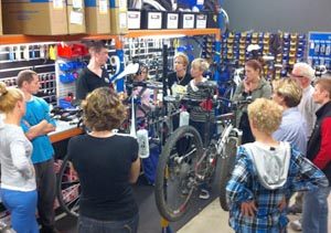 Try learning at a bicycle maintenance workshop!