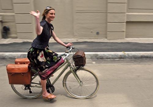 Liz Patek knows panniers make a classy commute
