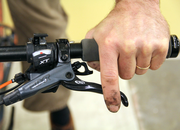 Get grip and reach of brakes set up