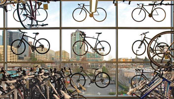 Bike shops are beautiful and bike shopping is fun