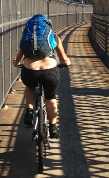 A downside to knicks / shorts is revealing bike bum