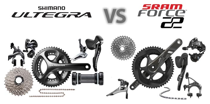 Shimano Ultegra 6800 vs SRAM Force 2015