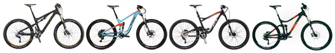 4 Best Carbon 26 / 27.5 Dual Suspension All-Mountain MTB between $3500 & $4500 for 2015 - Scott, Trek, GT, Avanti
