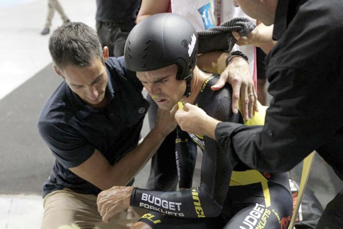 Bobridge suffered in his hour record attempt