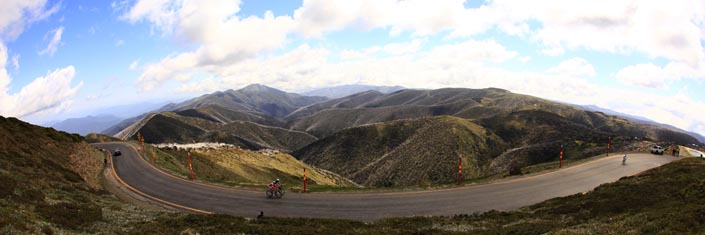 Great cycling climbs of the world - Australia - Tour of Bright. Victorian high country, Australia.