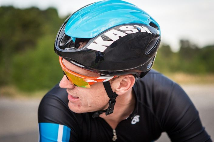 Kask Infinity aero road helmet and Oakley sunglasses
