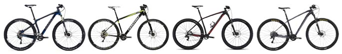 Four 29er hardtails under $3500 by Giant, Cannondale, Specialized, KHS