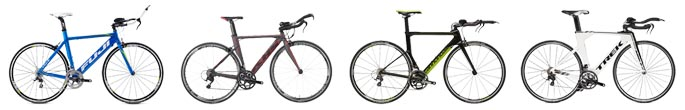 Four TT / Triathlon / Ironman bikes for racers on a budget – by Fuji, KHS, Cannondale, Trek