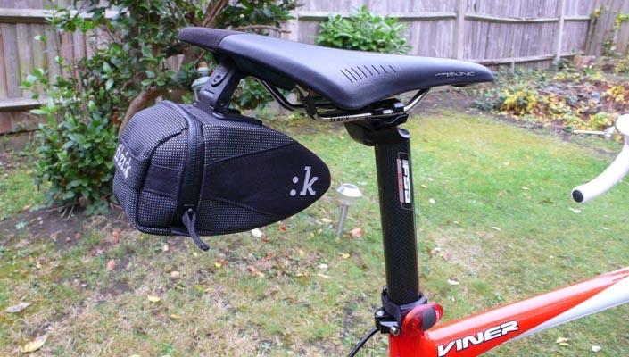 Fizik saddle bag on road bike