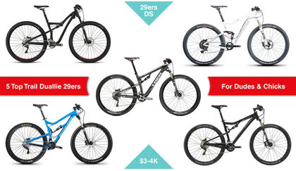 5 Top Trail dual suspension 29ers for the girls and the boys