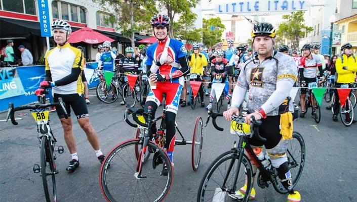 having fun and enjoying cycling at a gran fondo